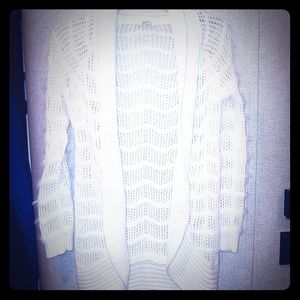 White Textured Cardigan by Candie's